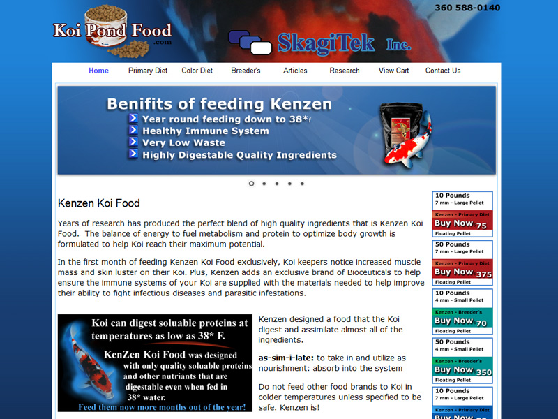Koi pond food .com for your Kenzen Koi food. Best Koi food for Koi ponds.
