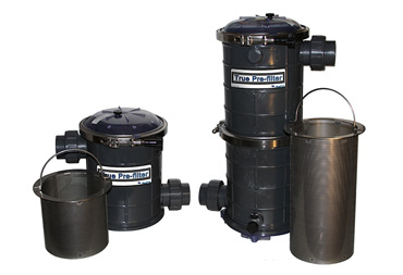 Pond pump True Pre-filter extra large strainer basket and leaf trap. SS1 and SS1